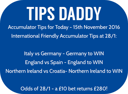 Accumulator Tips 15th November 2016