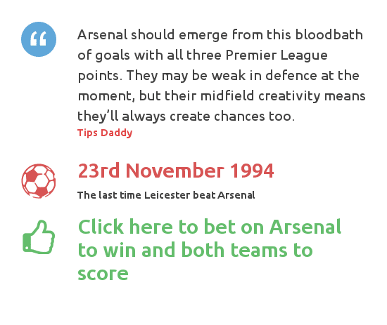 Leicester vs Arsenal betting tips